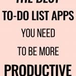 the best to do list apps