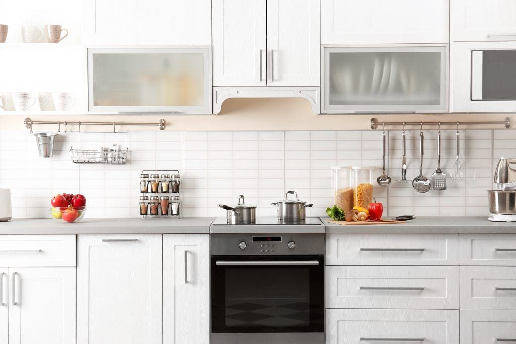 organized and clean residential kitchen counter
