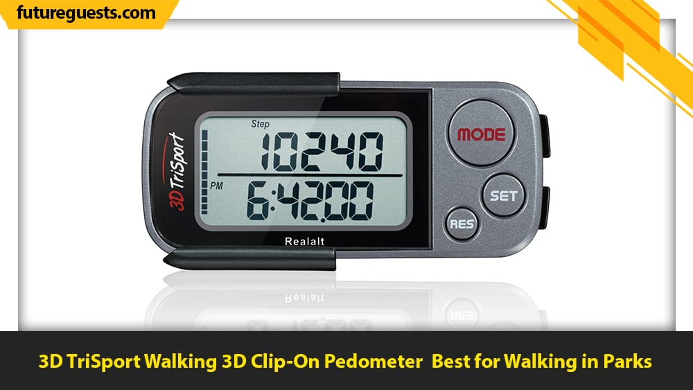 best clip on fitness trackers 3D TriSport Walking 3D Clip-On Pedometer