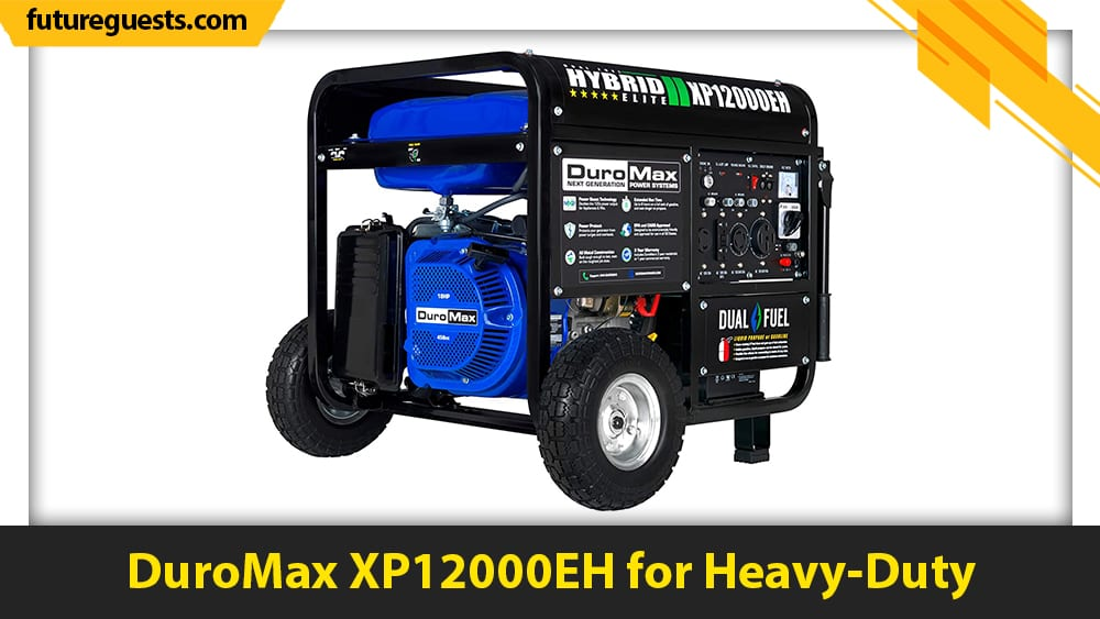 best generator for sump pump DuroMax XP12000EH