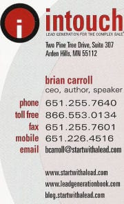 old business card Brian Carroll