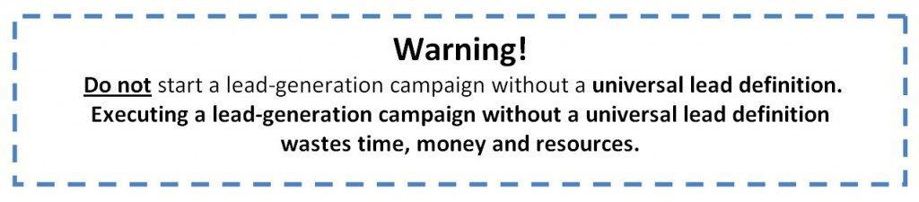 Warning sales leads