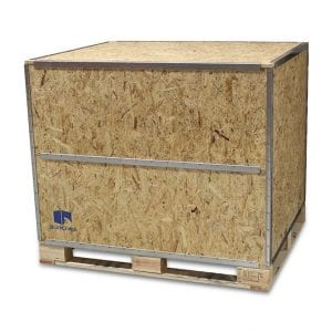 48x40x42 Wood Shipping Crate w/ Loading Panel - SharkCrates
