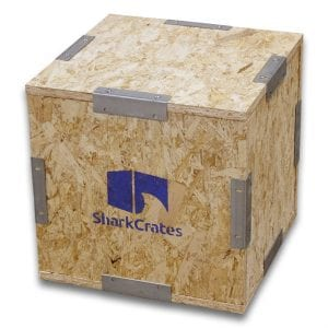 Wood Shipping Crate   14 x 14 x 14 no pallet