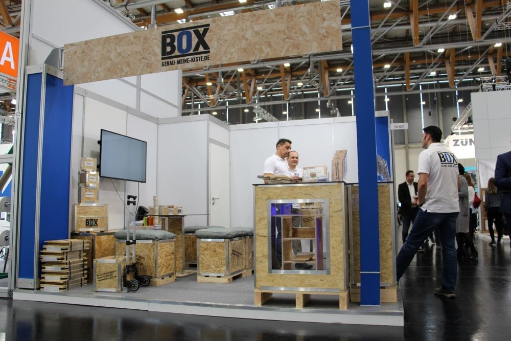 Fachpack trade show with BOX exhibiting wood crates