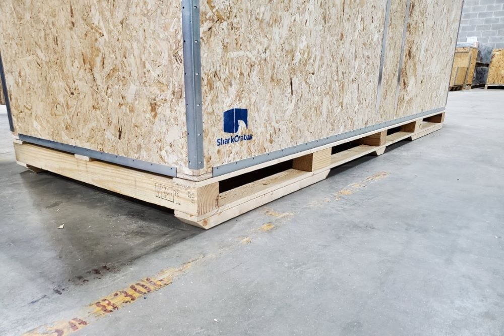 Wood Shipping Crate With long pallet