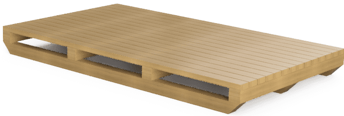 Sled style pallet for extra long shipping crates or SharkCrates