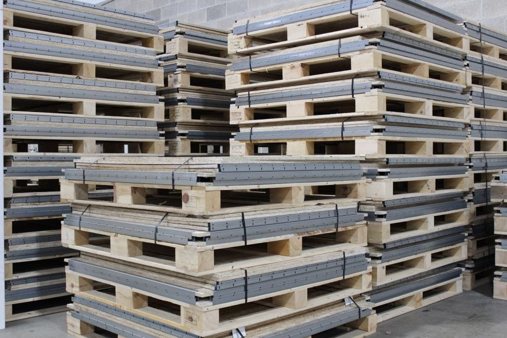 Collapsible Knock Down Wood Shipping Crates by SharkCrates